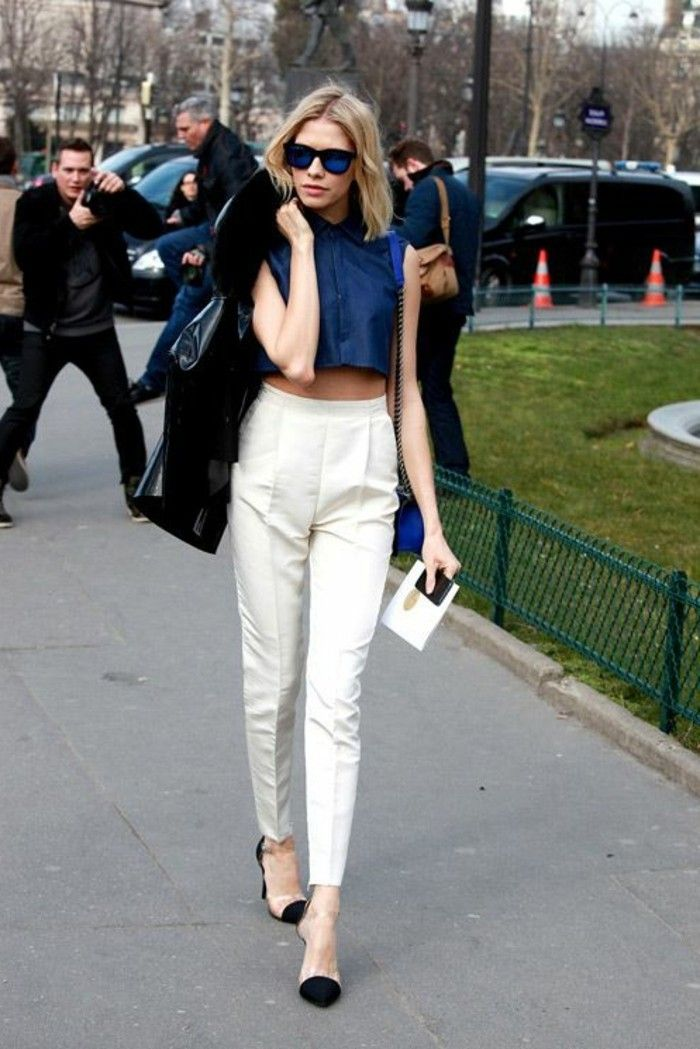 54cde0e3b92bf Comment porter le pantalon carotte. Nos conseils en photos! | Jeans ...