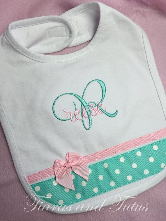 Personalized baby gifts monogram baby baby girl gift new baby personalized baby gifts monogrammed burp cloth and bib set negle Gallery