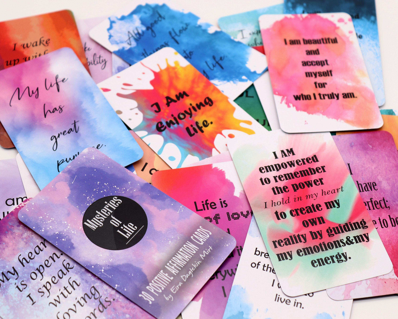 Positive affirmation cards, affirmation cards, oracle
