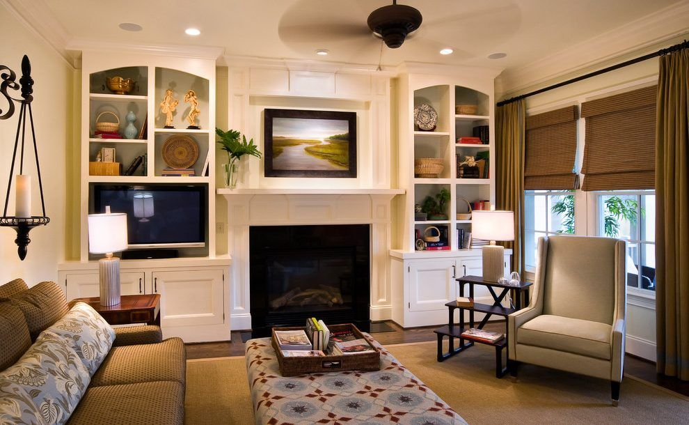Built Ins Around Fireplace Ideas Living Room Traditional With End Pleasing Interior Design Ideas Living Room Traditional Decorating Design