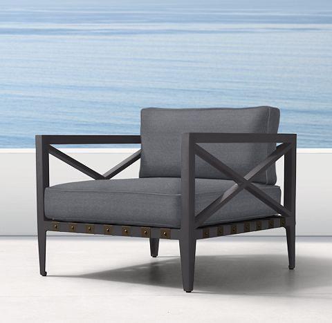 Mustique Aluminum Slate Outdoor Furniture Cg Rh