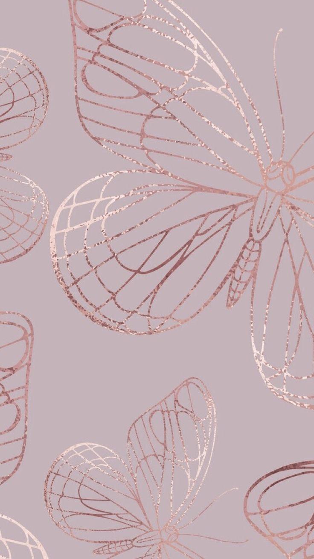 Iphone Rose Gold Aesthetic Tumblr Iphone Rose Gold Butterfly Wallpaper Butterfly Wallpaper Iphone Flower Phone Wallpaper Gold Wallpaper Iphone