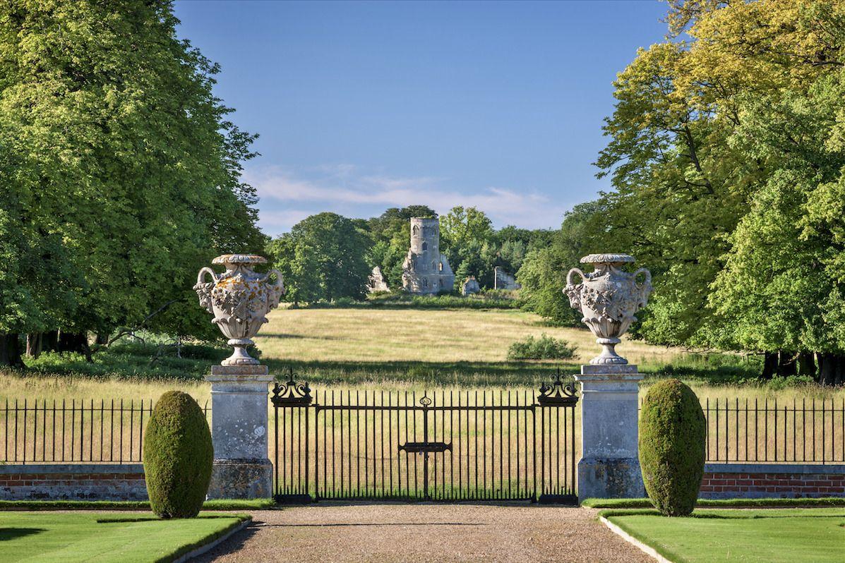 Wimpoleus follywimpole hall entrance gates pinterest hall and