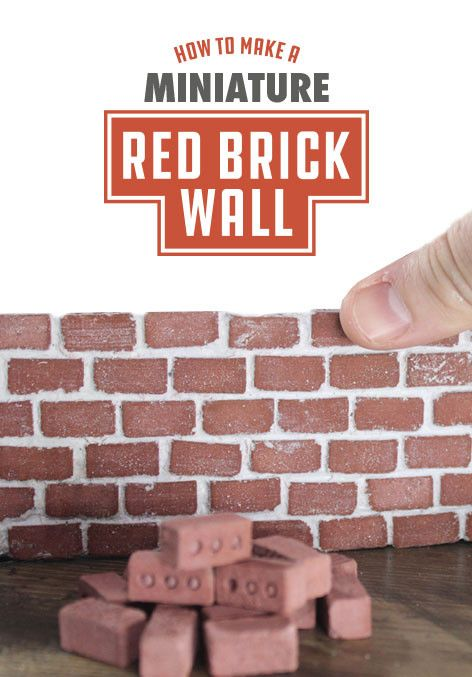Here S A Step By Guide To Building Miniature Red Brick Wall