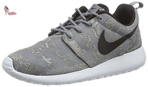 Nike Rosherun Print, Chaussures de running entrainement femme, Gris
