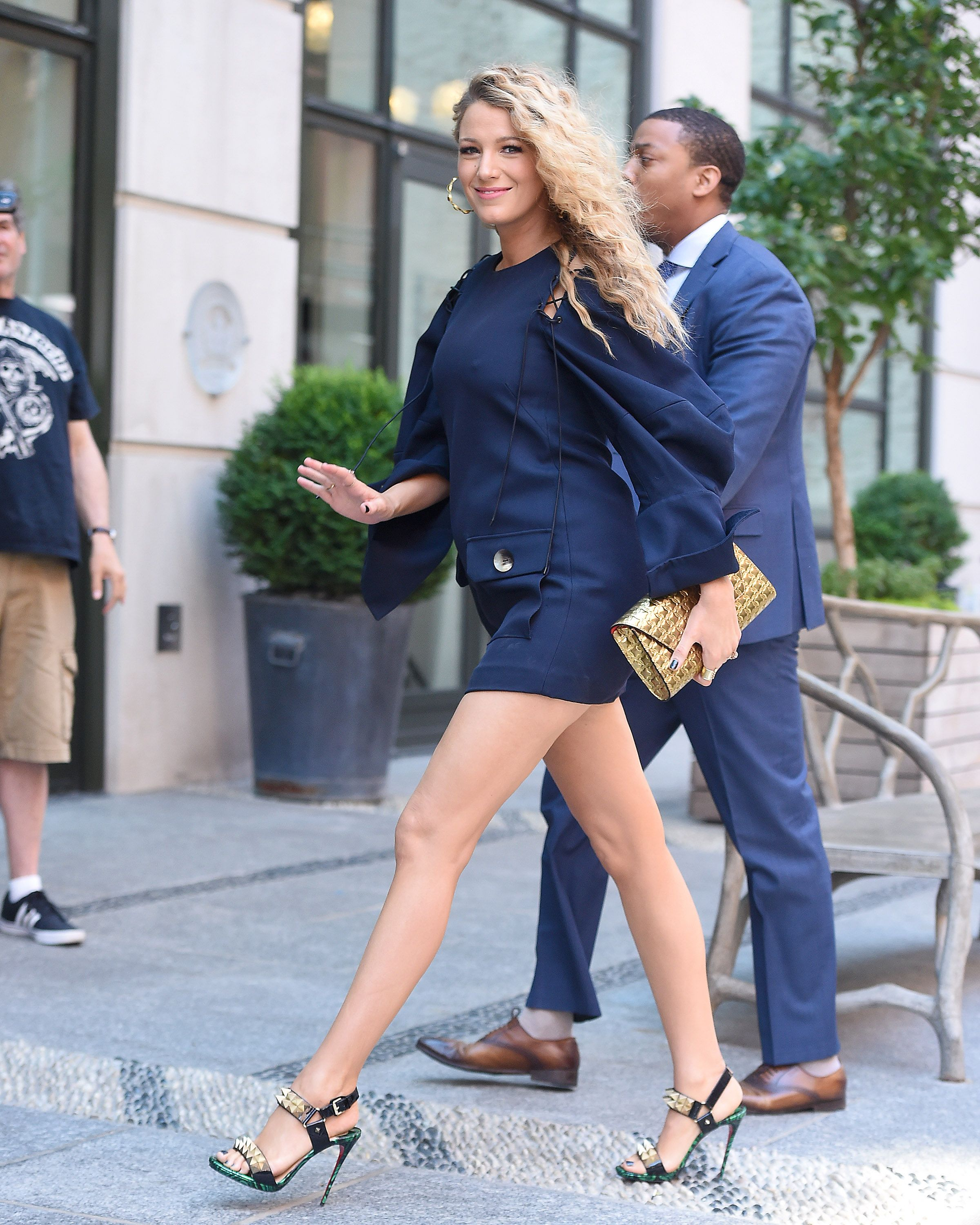 Blake Lively looks iconic in stunning high heels in New York