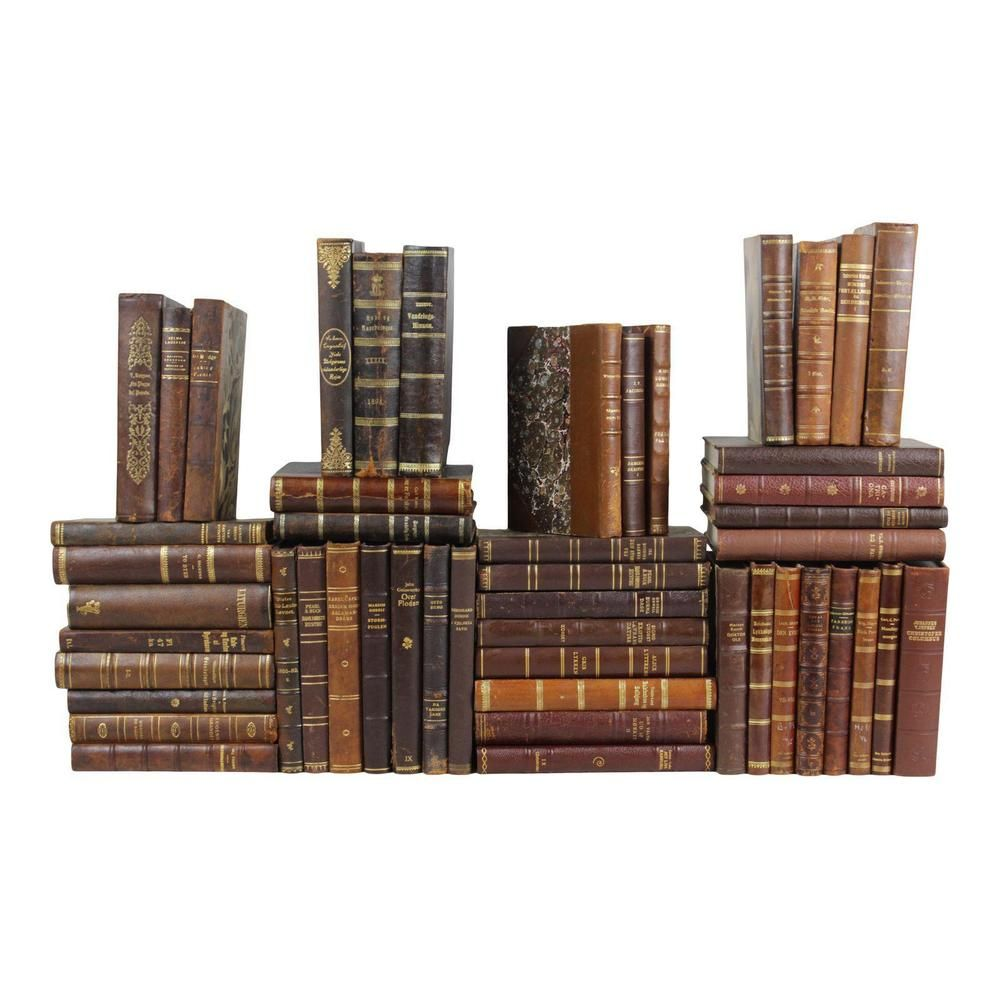 Charming 1800s1950s leatherbound books set of 50
