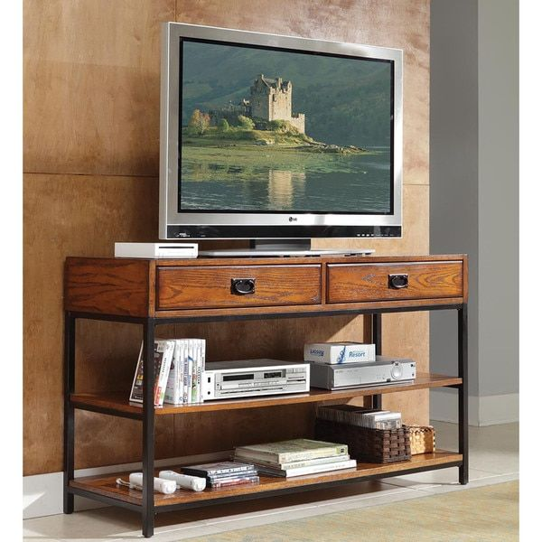 Home Styles Modern Craftsman Distressed Oak TV Stand - 17942177 - Overstock.com Shopping - Great Deals on Home Styles Entertainment Centers