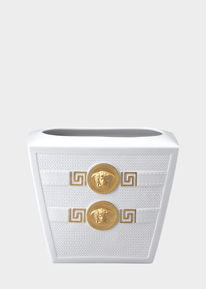 Signature White Vase 18 Cm Versace Vases Home Collections