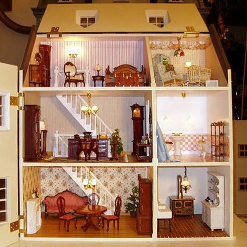 1:12 Dollhouse miniature door numbers for doll house room decoration OS