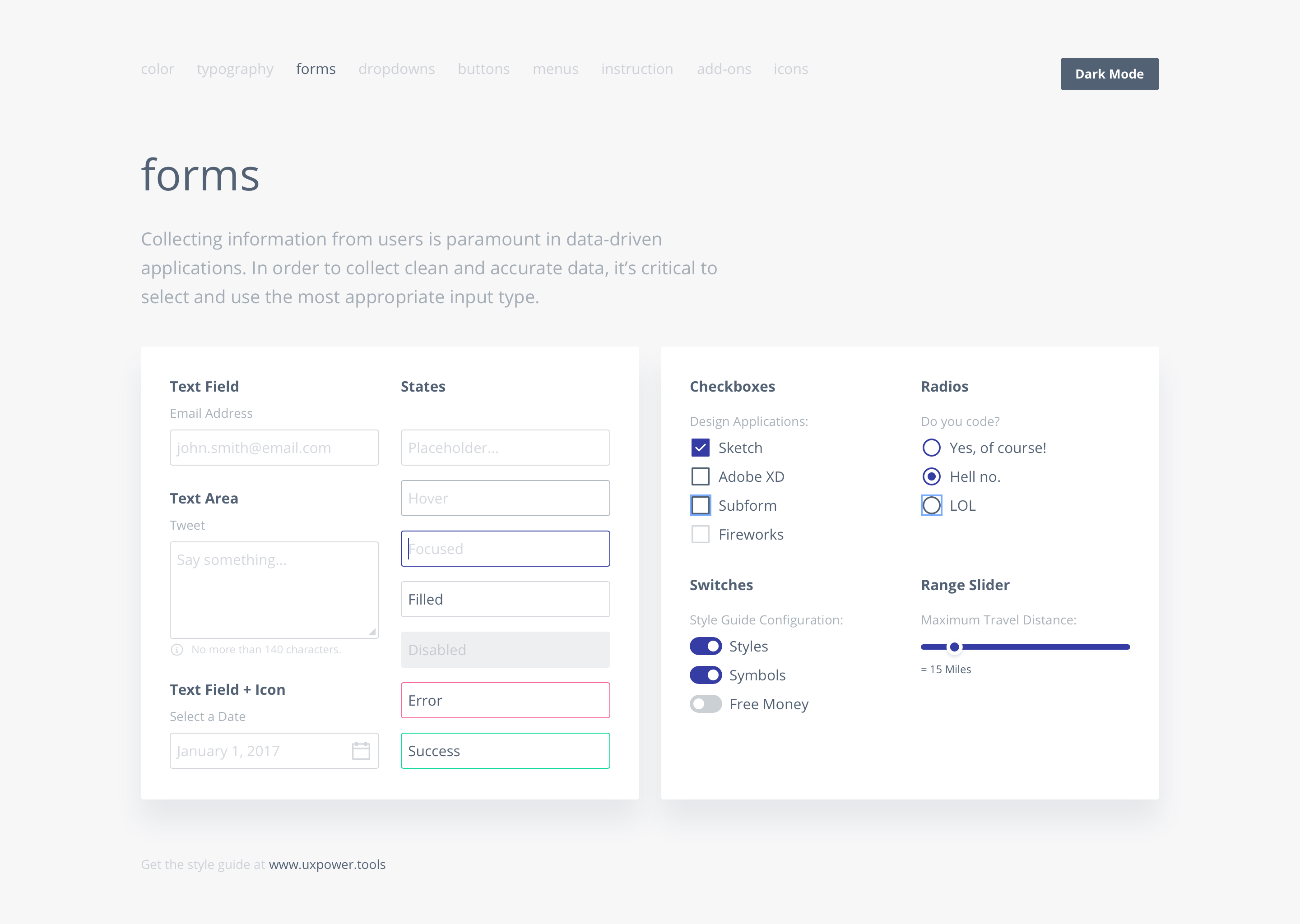 Sketch Ui Kit And Style Guide  Ux Power Tools  Sketch Smarter