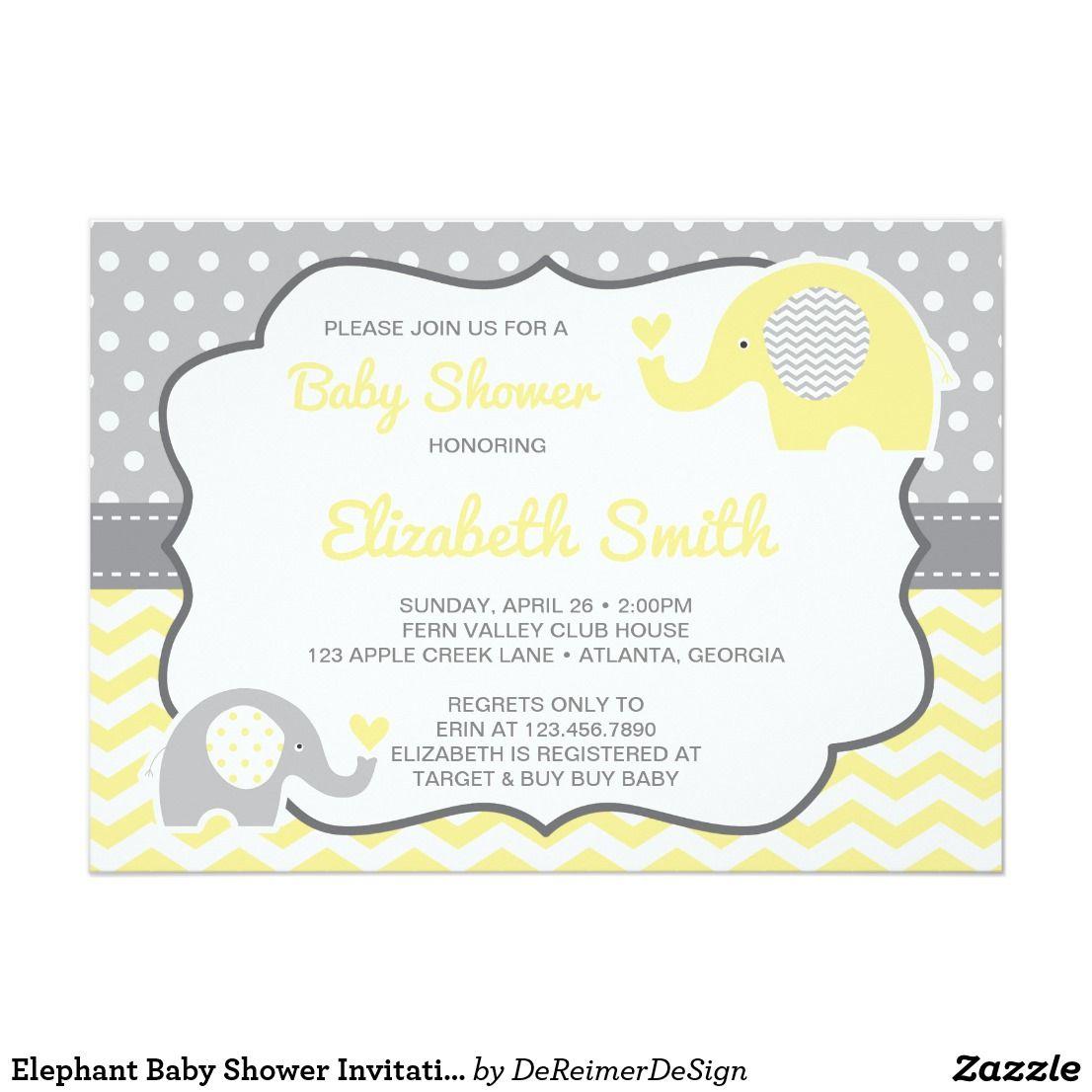 Non baby shower invitation baby shower invitations elephant baby shower invitation editable color invitation filmwisefo