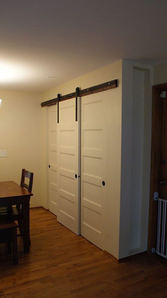 New Pantry Build With Sliding Barn Style Doors Budgetupgrade In 2020