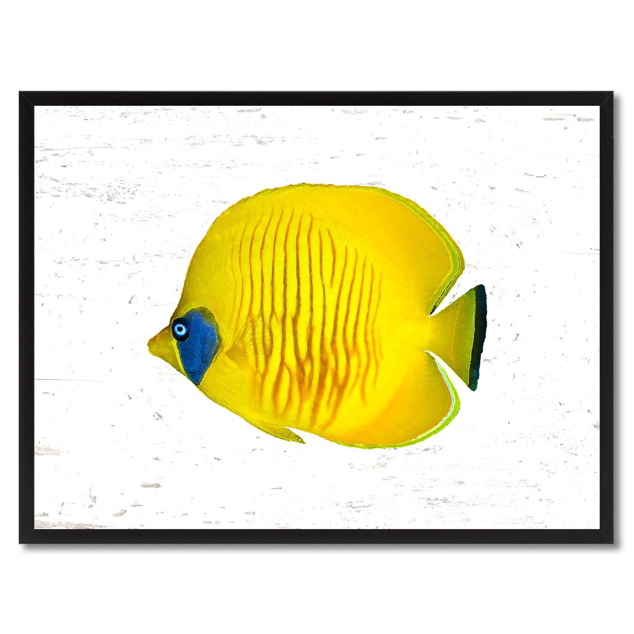 Yellow Tropical Fish Gift Ideas Home Decor Wall Art Canvas Prints ...