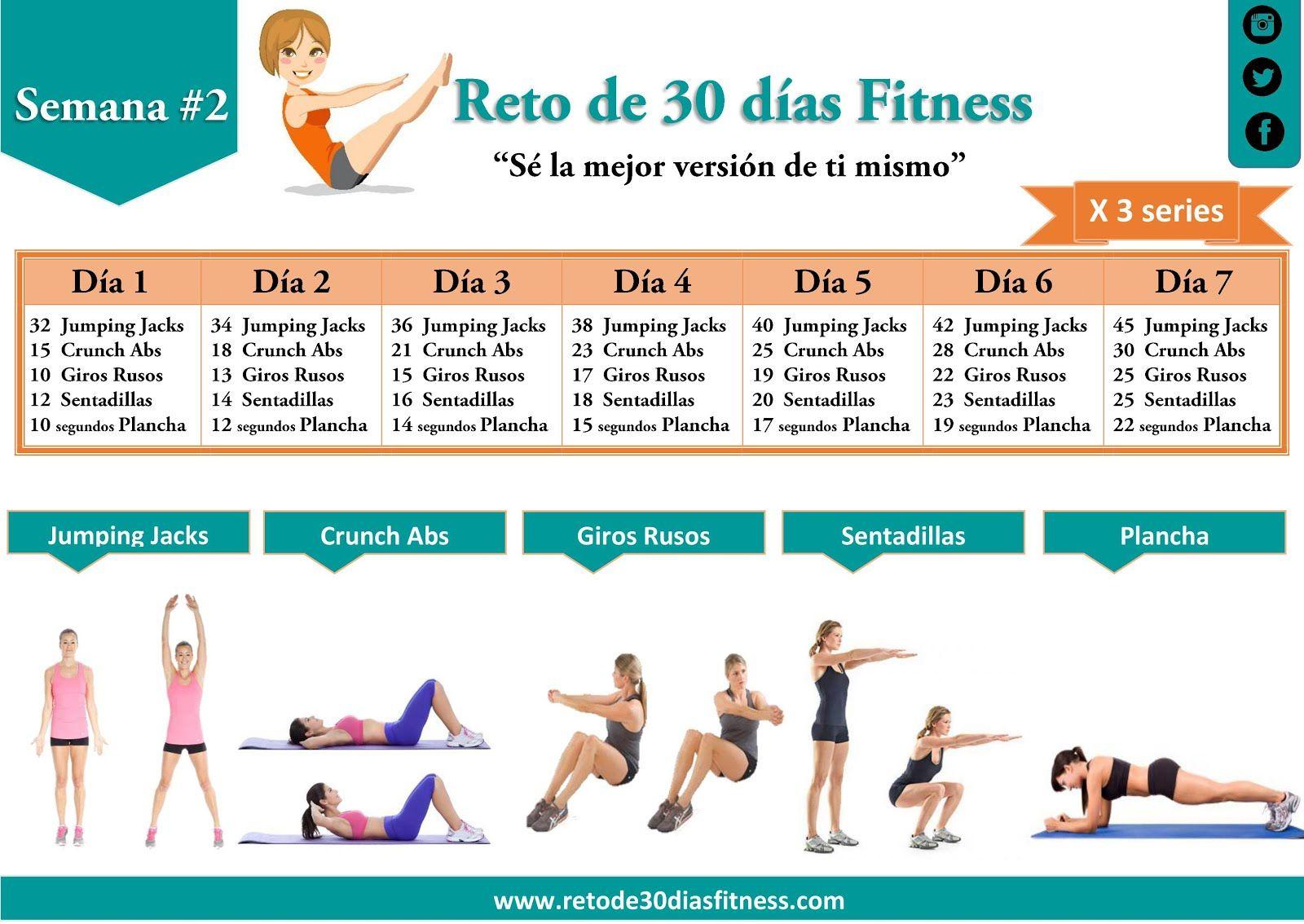 Calendario de ejercicios para bajar de peso