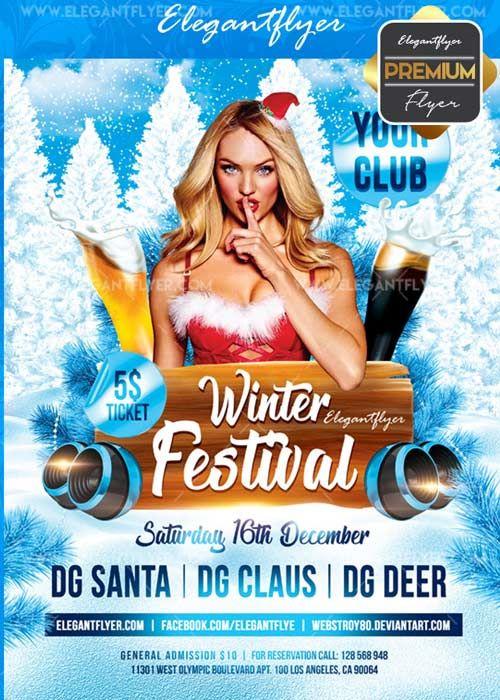 Winter Festival V30 Flyer Psd Template Facebook Cover Free Download