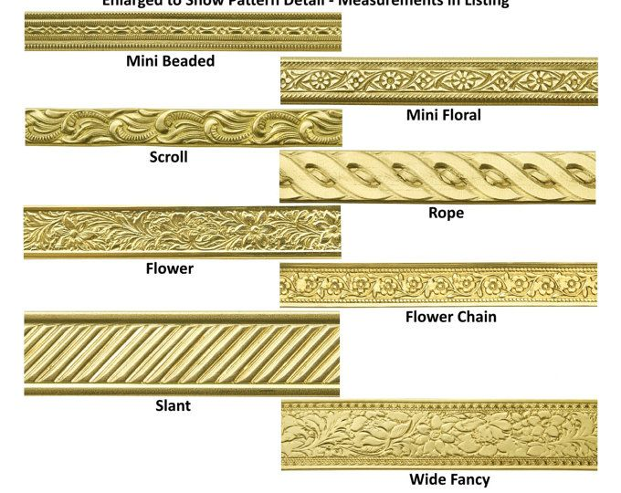 Jewelers Brass Artisan Pattern Wire Nu-Gold 8 Styles - Choose 12 ...