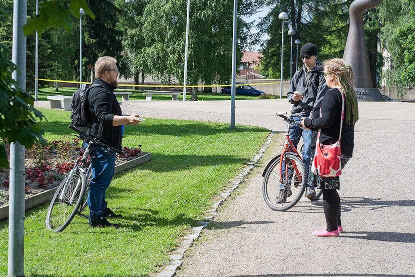 Eimink, Orkkeli ja Minmoira. #ingress #kajaani www.korpimaa.fi