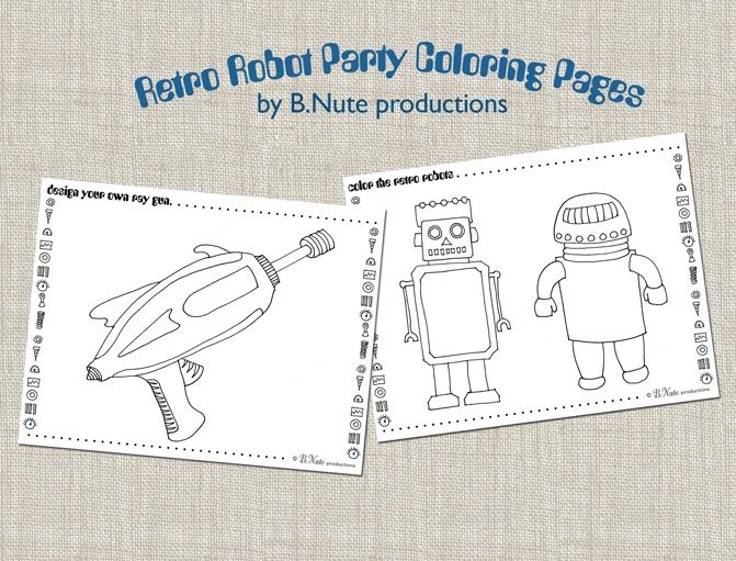 bnute productions: Robot Party: Free Printable Art Activities and More...