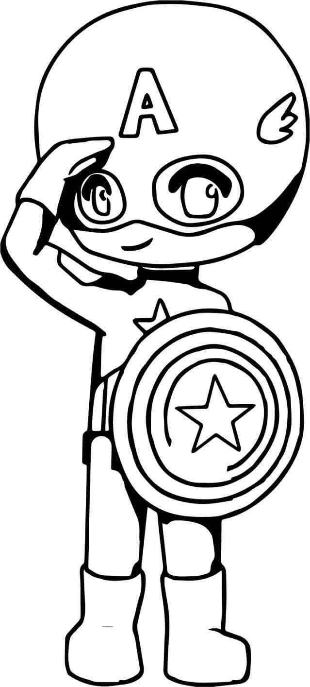 Baby Captain America coloring page | Baby Superheroes Party in 2018 ...