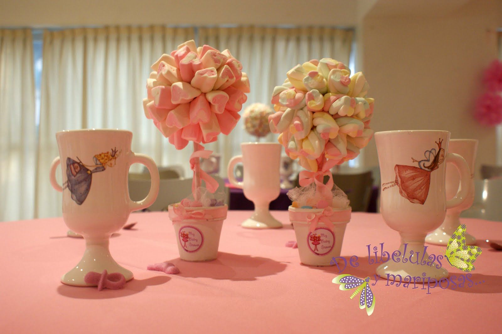 Decoraci n de baby shower con flores y mariposas para ni a - Ideas para baby shower nina ...