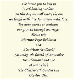 Contemporary Invitation Wording: Bride And Groom Host   Wedding Invitations    Unique Wedding Invitations