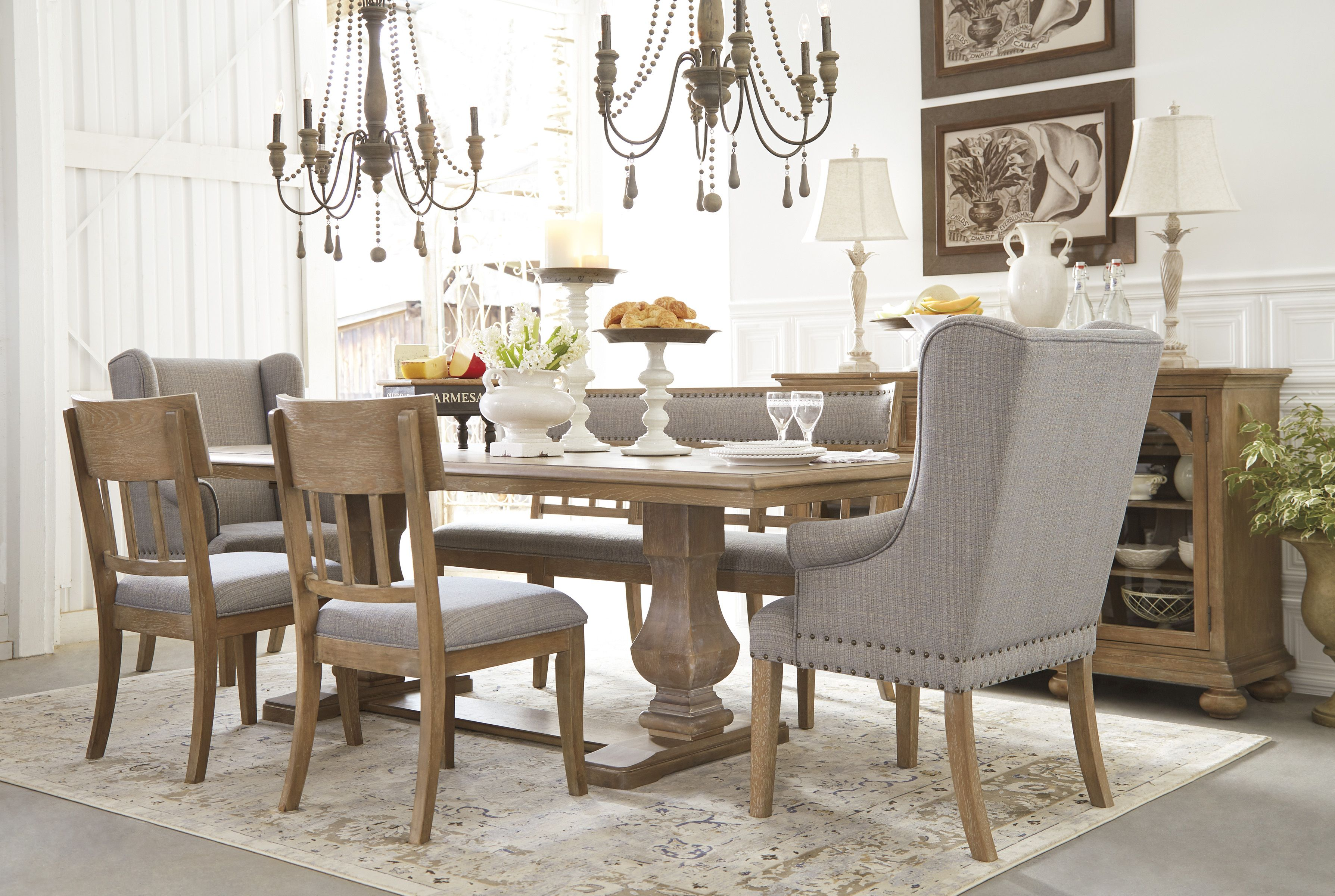 Phenomenal Ollesburg 7 Piece Dining Room In 2019 Dining Room Chairs Onthecornerstone Fun Painted Chair Ideas Images Onthecornerstoneorg