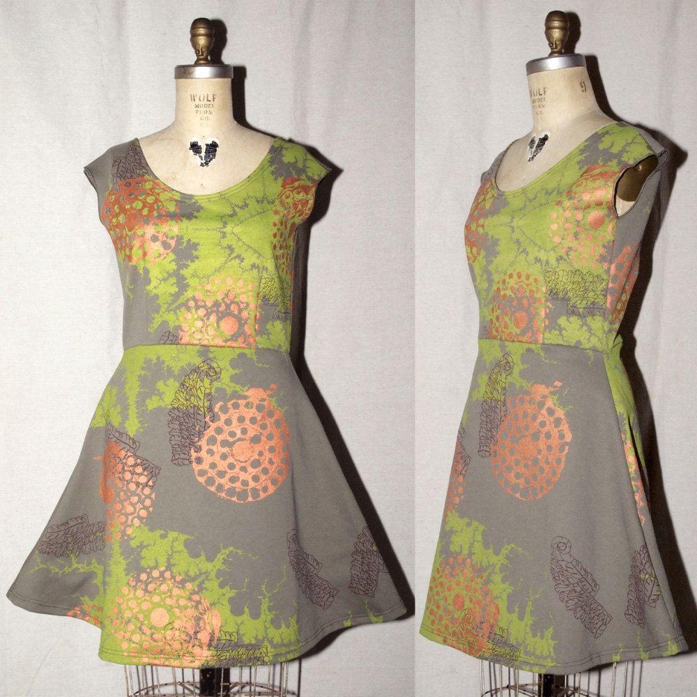Better than jam olive green cotton jersey spring dress