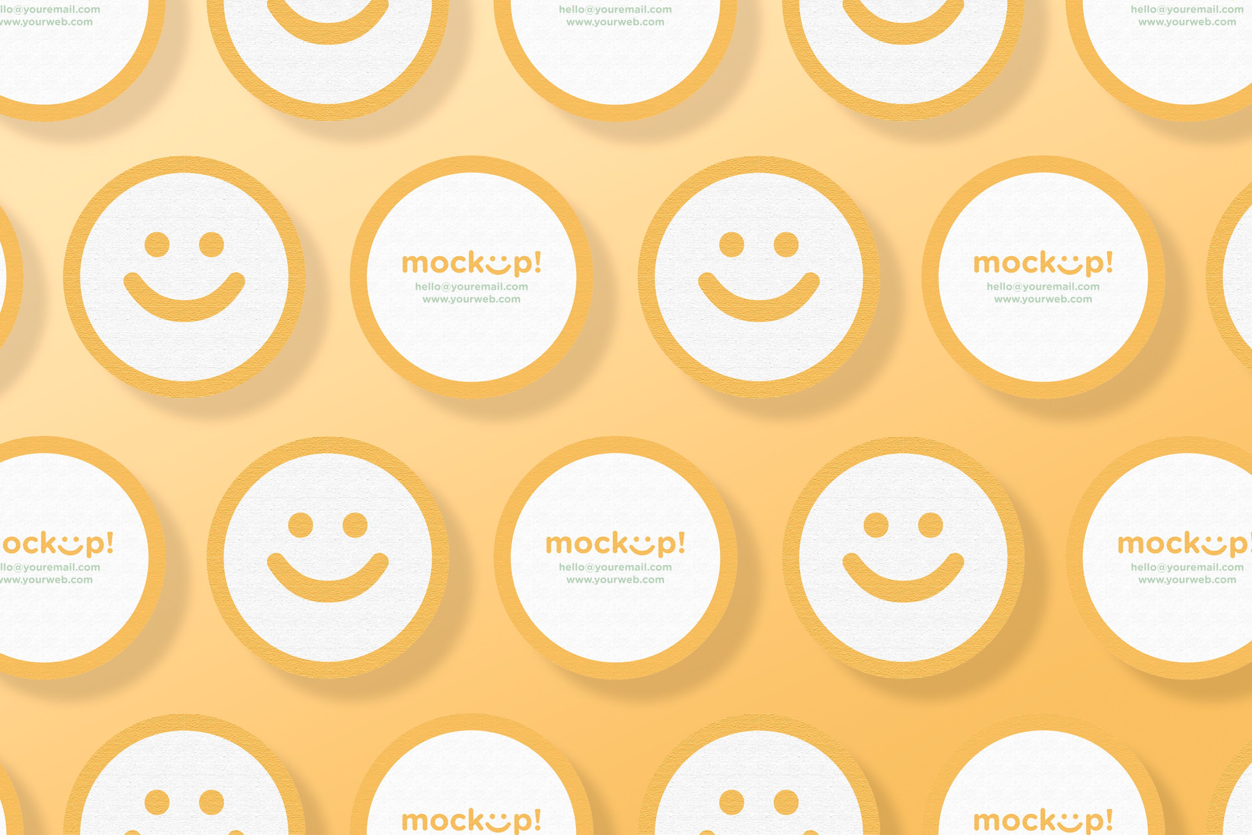Download circle mock up business card for free round