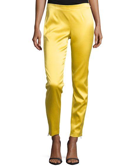 Kaufman Franco Skinny-Fit Cropped Pants, Sun