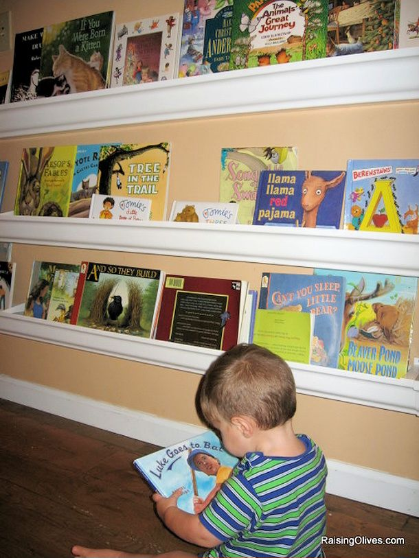 Raingutter Book Shelves   DIY Toy Storage Idea For The Kids! Tutorial Via  Raising Olives