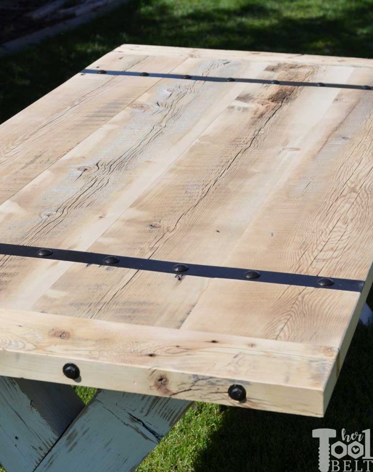 Super Chunky X Table Plans | Patio | Reclaimed wood table ...