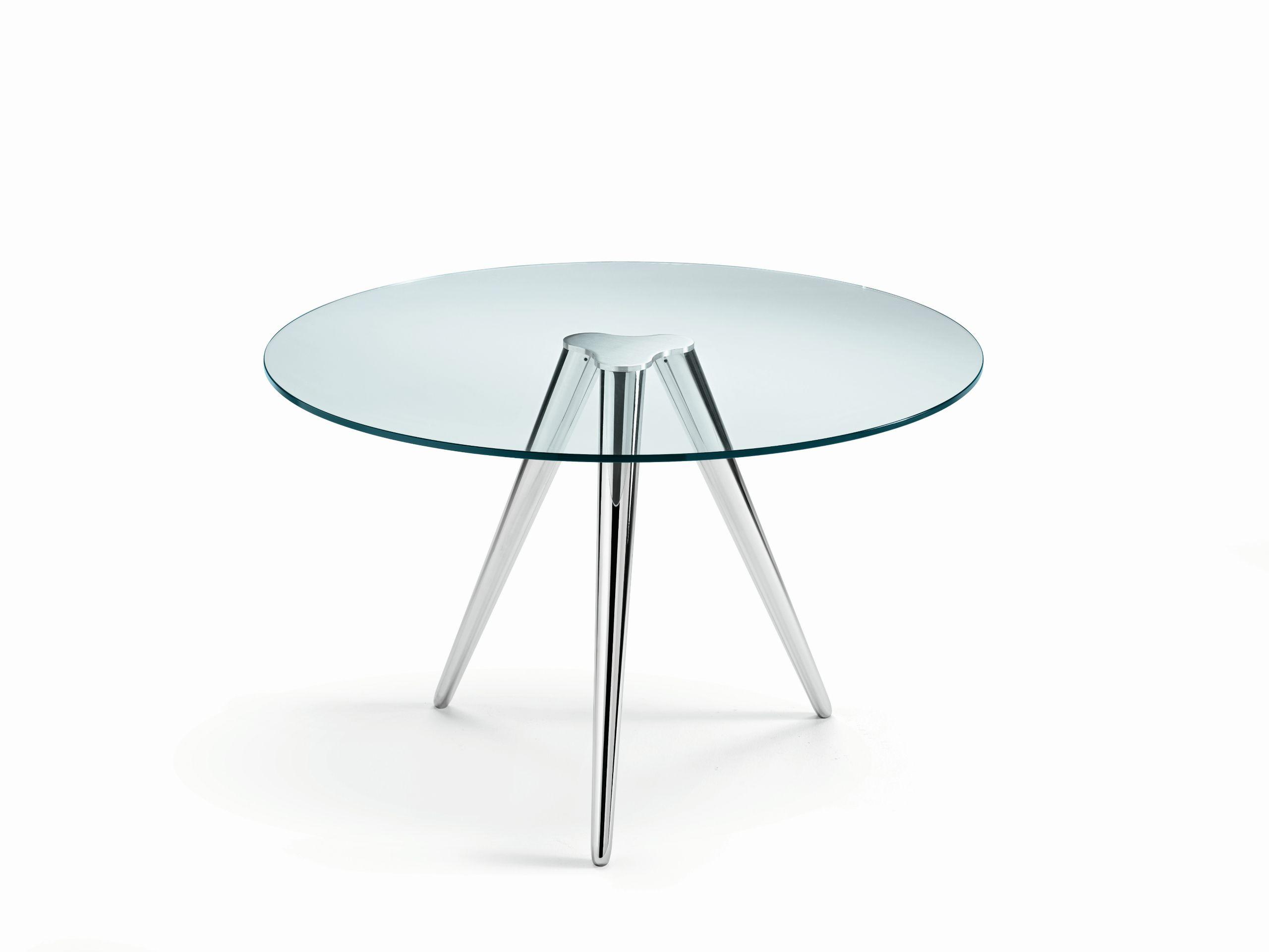 Round glass table UNITY by T.D. Tonelli Design | design Karim Rashid