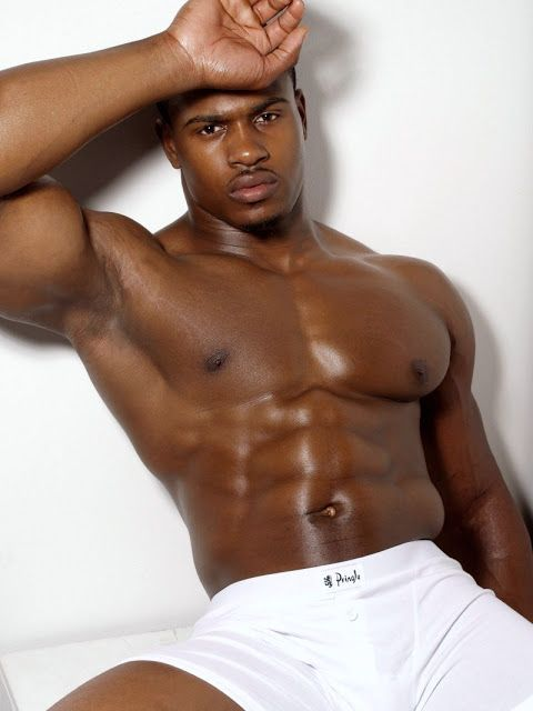 model sexy gorgeous black man muscle