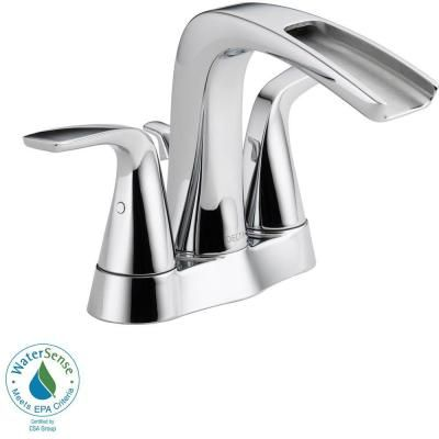 4 inch centerset faucet zurn delta tolva in centerset 2handle bathroom faucet in stainless25724lfsseco the home depot brushed