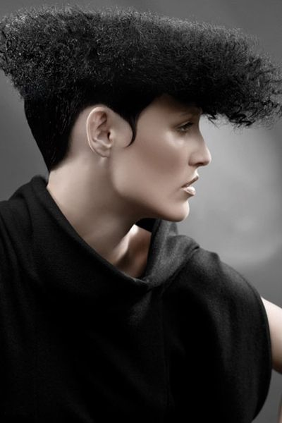 Black Afro Flat Top with Smooth Sides