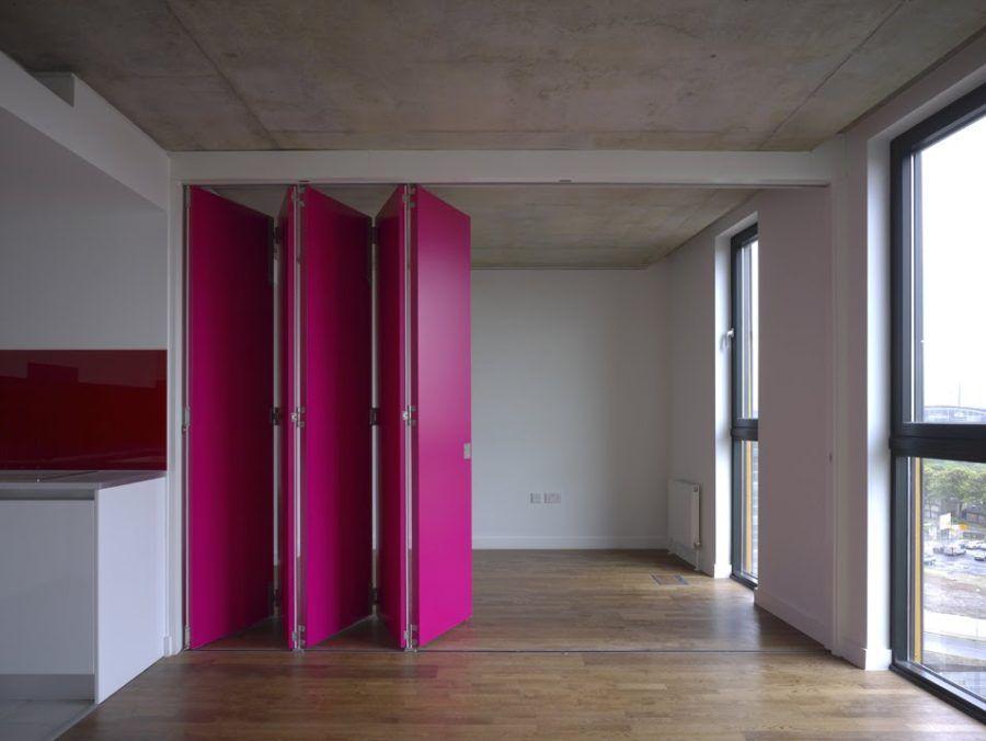 Retractable Walls For Flexible Living Interior Wall Design
