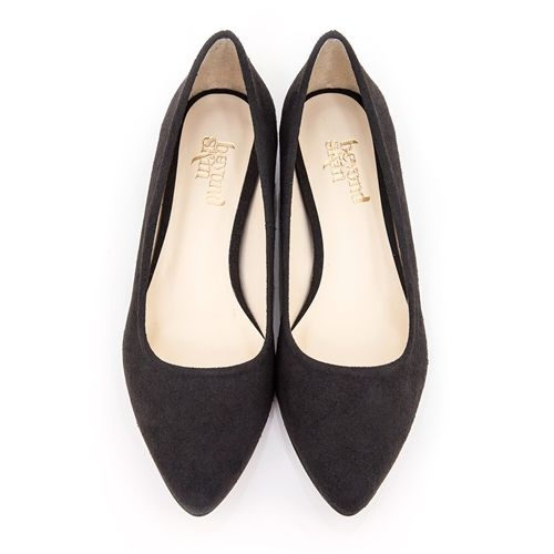 Beyond Skin (UK company - ships worldwide) - Shelley - Black Faux Suede
