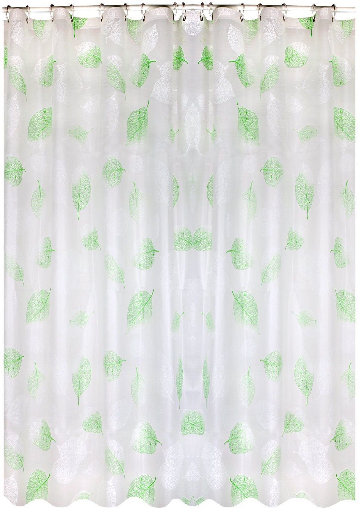 Wimaha Leaves Plastic Peva Shower Curtain Liner Clear Mildew