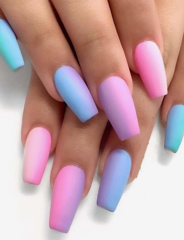 58 Simple, short, square acrylic nails for summer 2018 – #Acrylic #Na …