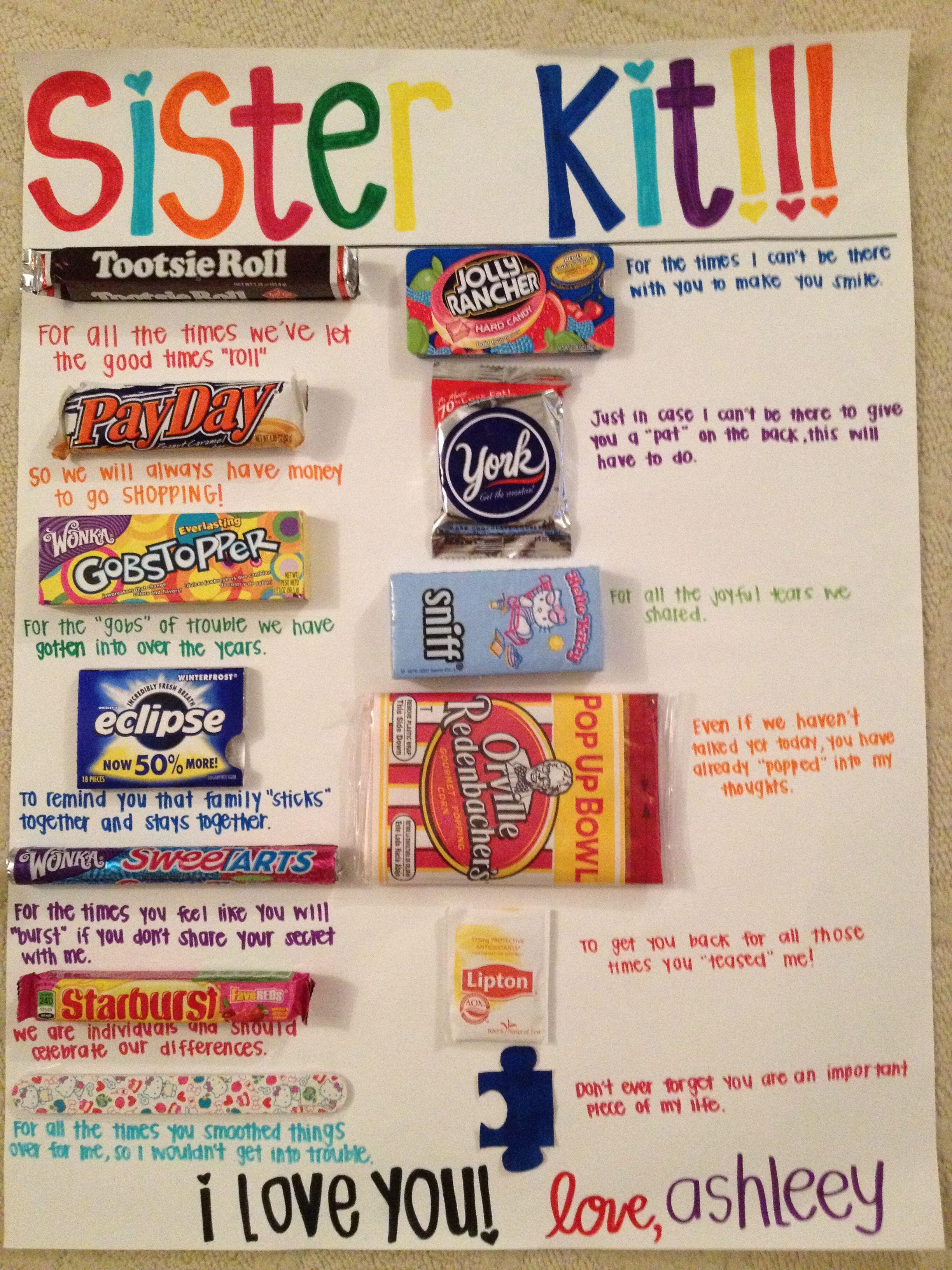 Sister kit!!! | Cute | Pinterest | Cheer, Gift and DIY Birthday