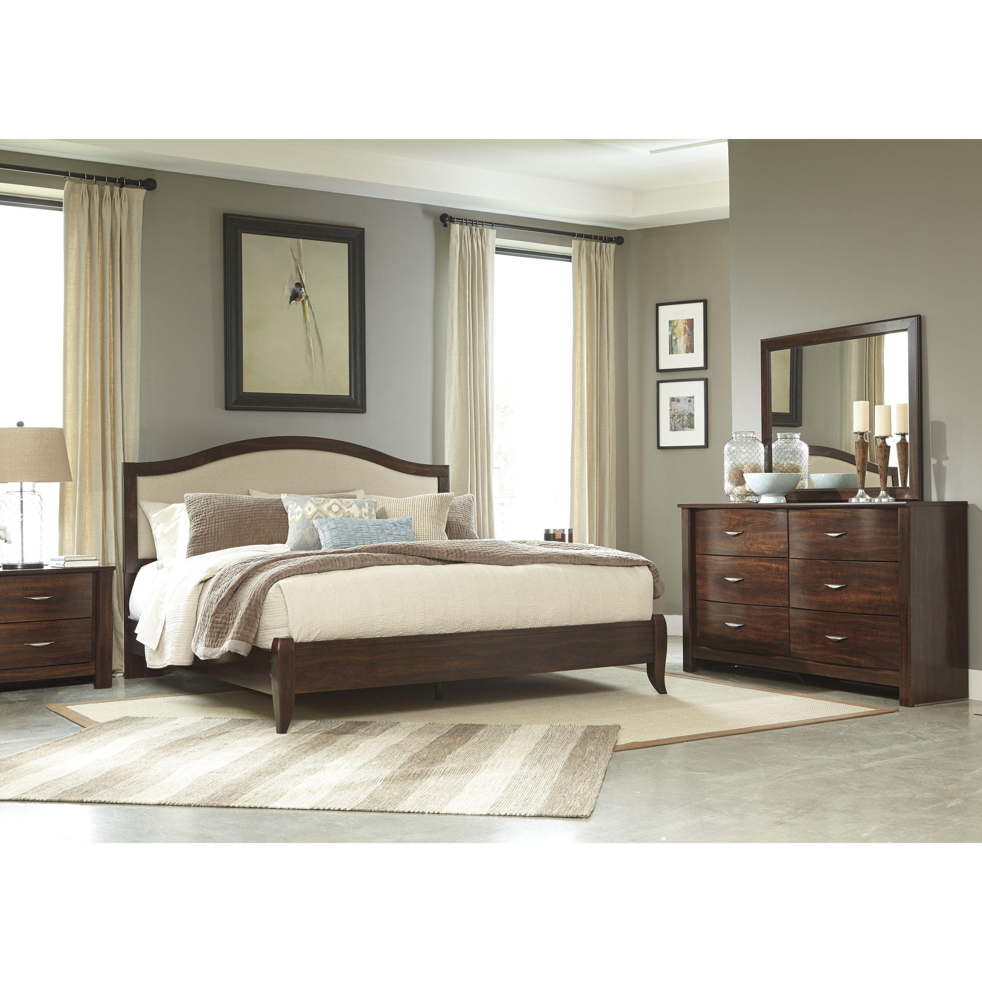 Master bedroom king size bed designs  Signature Design by Ashley Corraya Brown Kingsize Bed Kingsize
