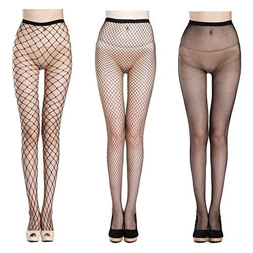 192056babcf65 QIDIANTRADE Fishnet Stockings Hollow Stretchy Tight Seamless Sexy Net  Pantyhose Womens Black Mesh Tights (Pack
