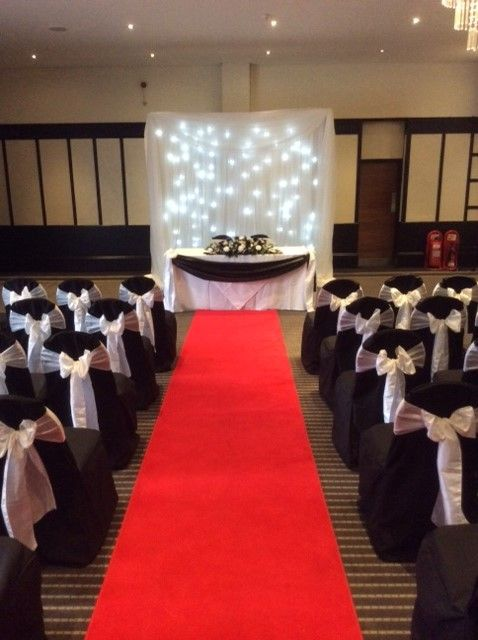 Wedding Chair Covers Hire East Sussex Patio Strap Repair Kit The Felbridge Hotel And Spa Grinstead Venue Bespoke Black Linen With White Sash Bow Decoration Twinky Backdrop All