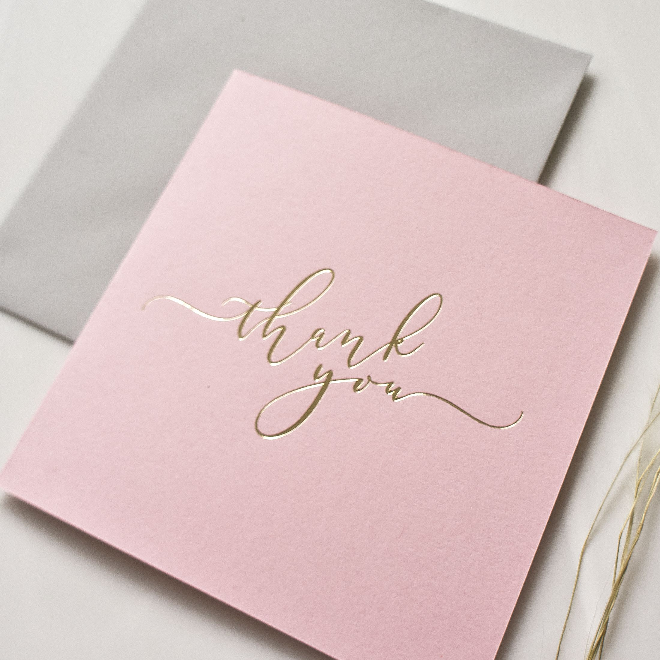 Calligraphy Thank You Cards Pack Of Five Calligraphy Thank You