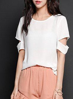 White O-Neck Patch T-Shirt