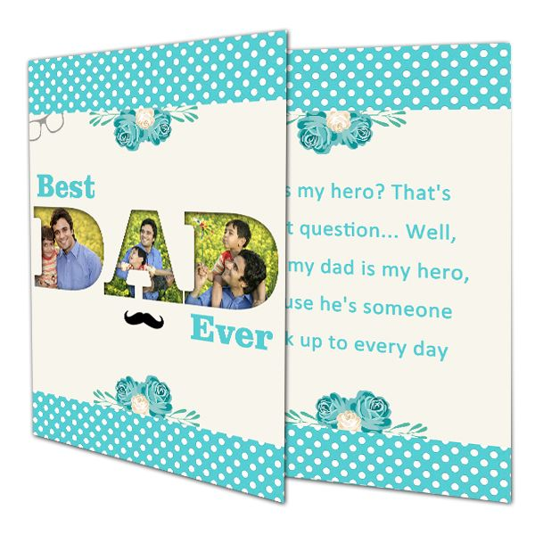 Buy Send Best Dad Ever Greeting Card Fathers Day Cards Online In India