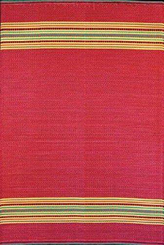 Mad Mats Serape Indoor/Outdoor Floor Mat, 4 By Dark Red