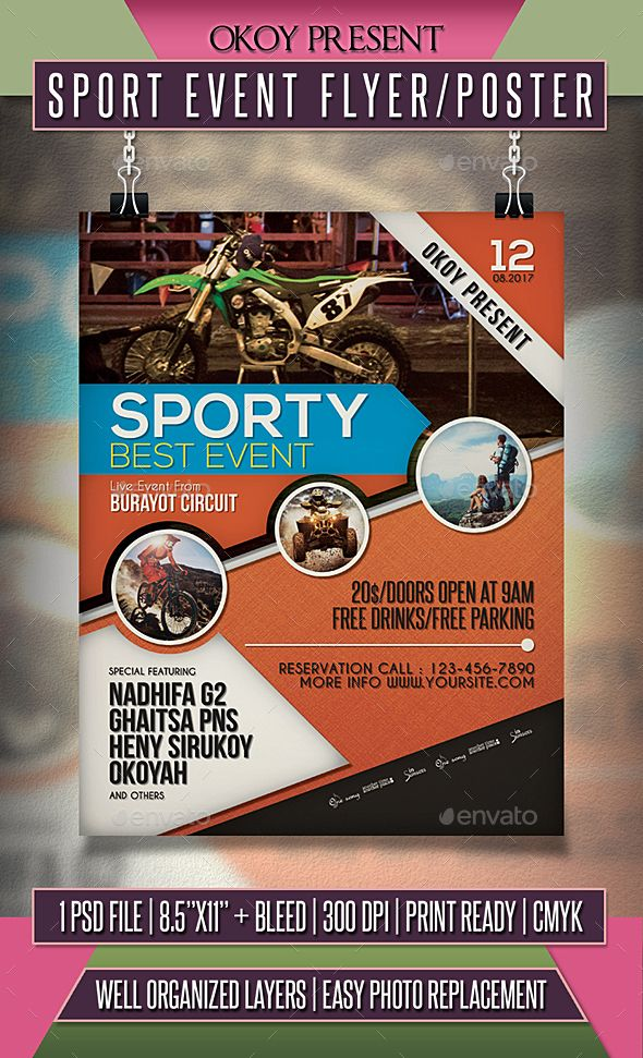 Sport Event Flyer  Poster  Event Flyers Template And Flyer Template