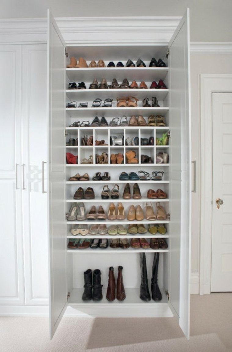 Rangement De Chaussures Et Meuble De Dressing Closet Hacks Organizing Closet Bedroom Closet Design